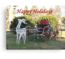 Happy Holidays To All Canvas Print