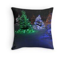 Electric Winter Wonderland Throw Pillow