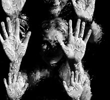 Hands at the Waterwall II. Mother's & Daughter. by Bee Williamson