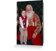 Santa and Me Greeting Card