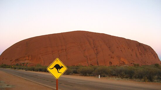 Uluru: Kangaroo Crossing by Octoman