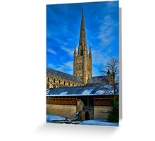Norwich Cathedral, East Anglia, UK Greeting Card