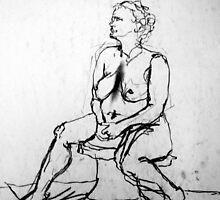 nude female study  by karolina