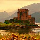 Eilean Donan Castle Evening Sun by JJsEscape