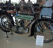 1917 Triumph Model H Motorcycle by TeeMack