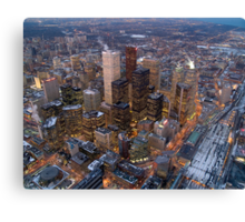 Toronto downtown view from the CN tower , Canada Canvas Print