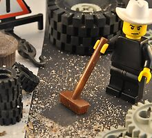 Lego Texan Tyre Shop by Bas Van Uyen