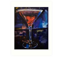 Backstage Martini Art Print
