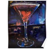Backstage Martini Poster