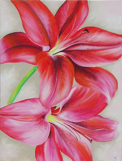 """""""Lillies"""" by Tania Kay by Taniakay"""