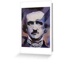 Portrait of Edgar Allan Poe Greeting Card