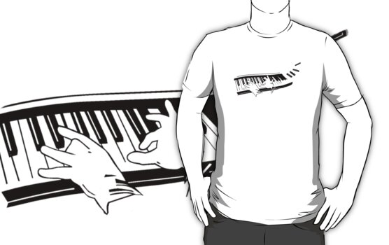 the pianist light t-shirt version by ralphyboy