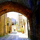 Arch & Stair Series - Wandering in Erice by Christine Oakley
