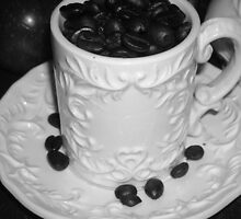Java Beans- B&W by Debbie Meyers