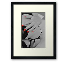 black + white with a bit of red... Framed Print