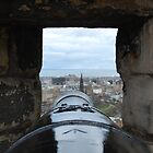 Through a Cannon at Edinburgh Castle by LeanneDixon