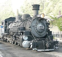 Steam Engine 481 Durango to Silverton, Colorado. by Mywildscapepics
