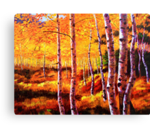 View in the Aspens Canvas Print