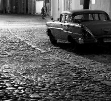 Cobble stone calle of Trinidad by Miguel De Freitas