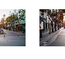 3rd Street Promenade, Santa Monica, California, USA...narrowed. by David Yoon
