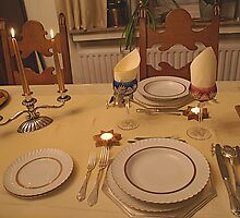 Christmas Table for two - Belgium by Gilberte