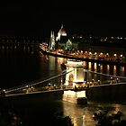 Budapest by night by Joe  Burns