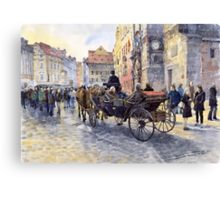 Prague Old Town Hall and Astronomical Clock Canvas Print