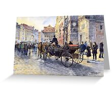 Prague Old Town Hall and Astronomical Clock Greeting Card