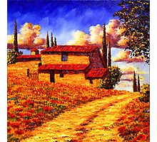 Tuscany Country Road Home Photographic Print