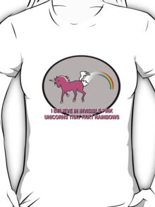 Invisible Pink Unicorns That Fart Rainbows T-Shirt