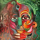 """""""MICTLANTECUTLI AND QUETZALCOATL"""" by Ehivar Flores Herrera"""
