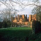 Kenilworth Castle, winter sunset by nealbarnett