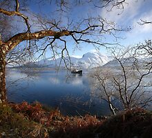 Ben Nevis & Loch Linnhe in winter. by John Cameron