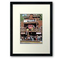 Rifle Saloon Bar, Rifle, Colorado. Framed Print