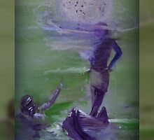 Pearl diving NATIVE lovers by moonlight by shaquayla