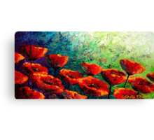 The Poppy Burst Canvas Print
