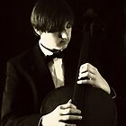 Pizzicato Cellist by Lolabud