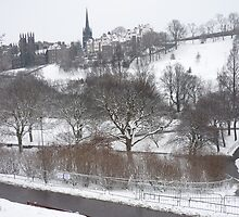 Princes Street Gardens in Winter by Yonmei