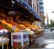 fruit stall NY by kenkrash