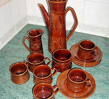 Coffee set Saxony 60s by Woodie