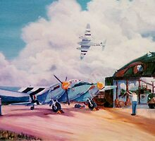 Mossie Fighter, in France '44 by Woodie