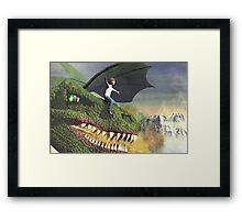 Dragon rider Framed Print