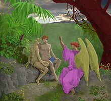 Adam, Eve and Raphael. by albutross