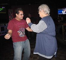 mom w/tito puente jr at gaby's by helene ruiz