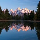 Teton Mountains&#x27; Dawn - Schwabacher Landing by Stephen Beattie