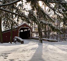Zook's Mill Covered Bridge in Snow by Mark Van Scyoc