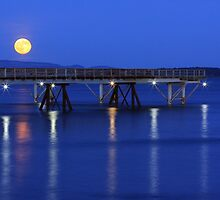 Moon over the Pier by Anne McKinnell