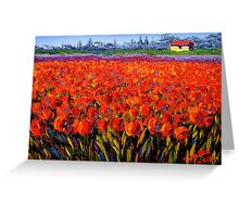 Holland Tulip Field Greeting Card
