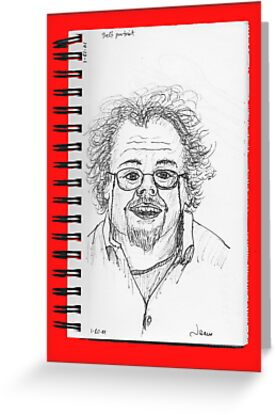 fast sketch self portrait by James Lewis Hamilton