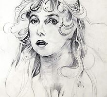 Portrait of Pretty Girl Pencil Sketch by Enchanted Studios
